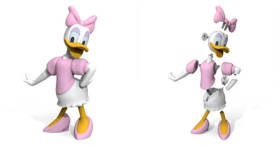 3D Printing Ideas, 3D Printer Projects, 3D Printed Daisy Duck
