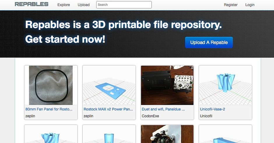 STL Files, 3D Printing Models, Repables