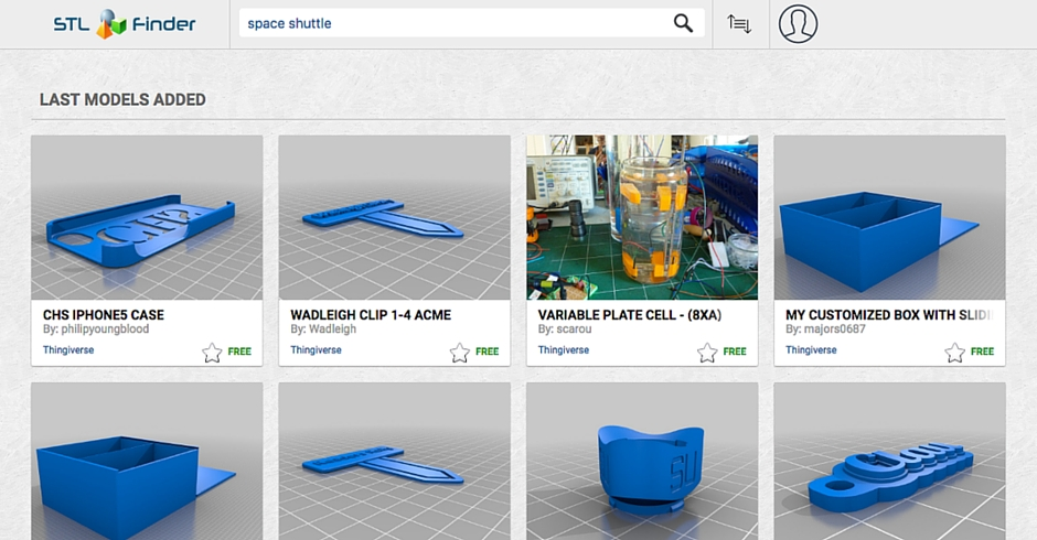 STL Files, 3D Printing Models, YouMagine, STL Finder