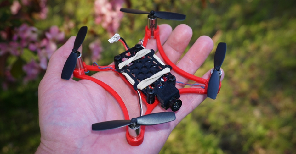 3D Printed Drone, 3D Printed Quadcopter, Micro 105 FPV Quadcopter B