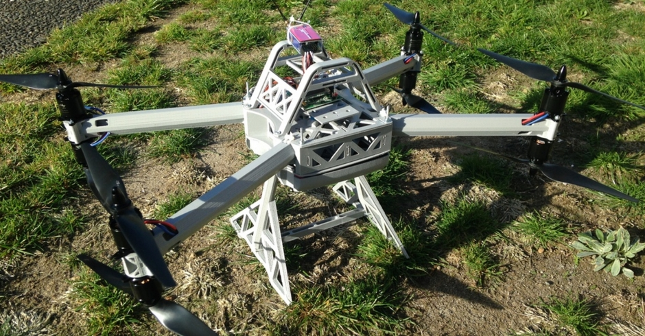 3D Printed Drone, 3D Printed Quadcopter, TX8 Octocopter B