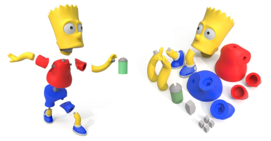 Things To 3D Print, 3D Printed Bart Simpson