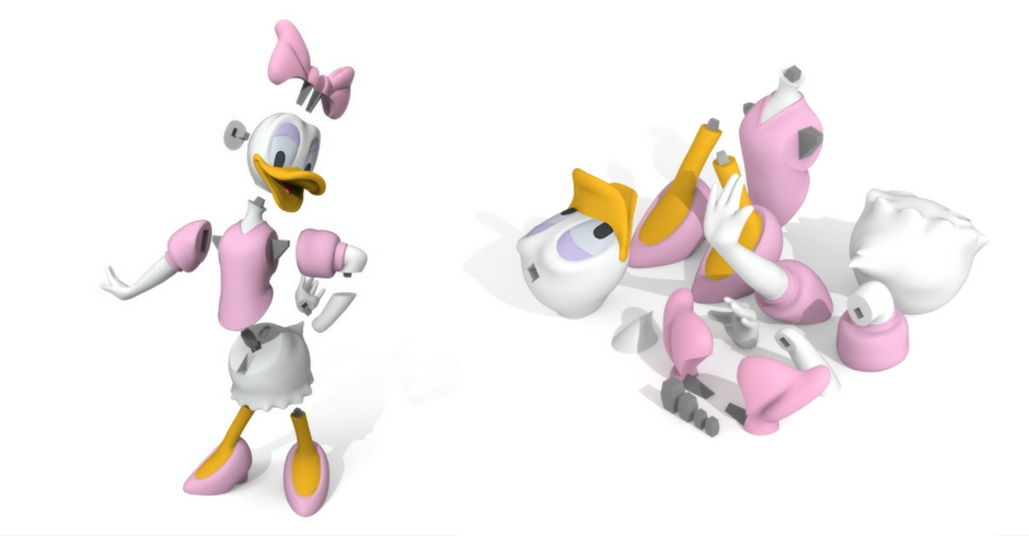 Things To 3D Print, 3D Printed Daisy Duck
