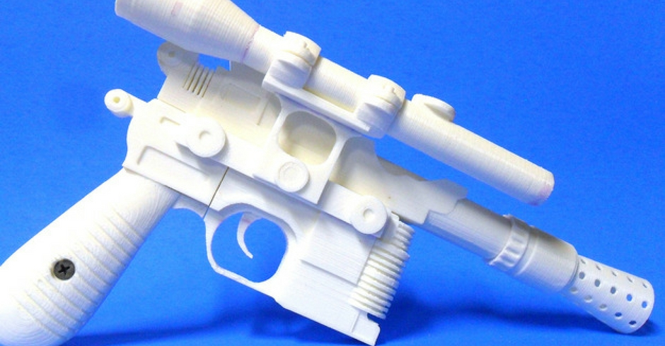 Things To 3D Print, 3D Printed Han Solo Blaster