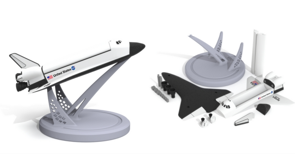 Things To 3D Print, 3D Printed Space Shuttle