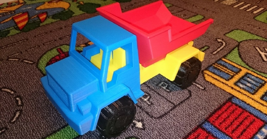 Things To 3D Print, 3D Printed Toy Dump Truck